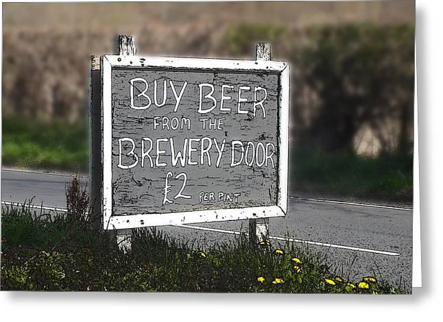 Buy Beer Greeting Card by Brainwave Pictures