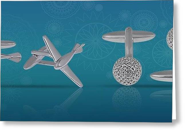 Buy Cufflinks For Men Online Greeting Card by Jessica
