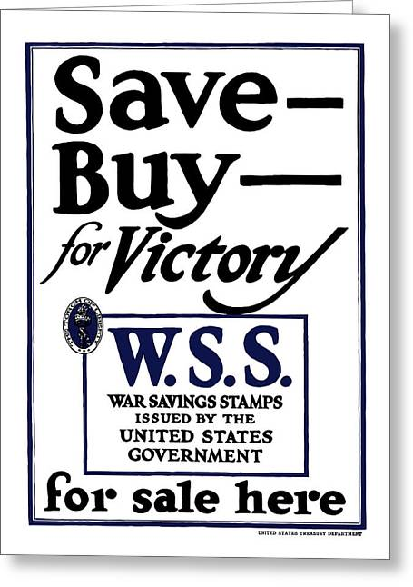 Buy For Victory Greeting Card by War Is Hell Store