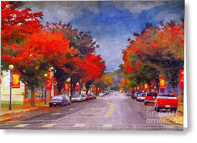 Bv In The Fall Greeting Card by Kathy Jennings