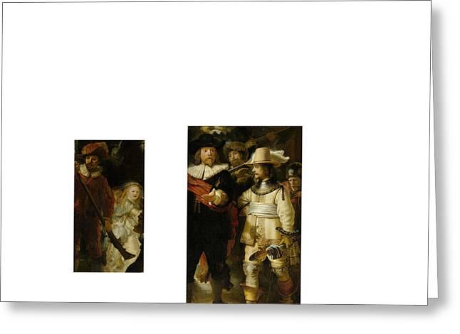Bw 2 Rembrandt Greeting Card by David Bridburg