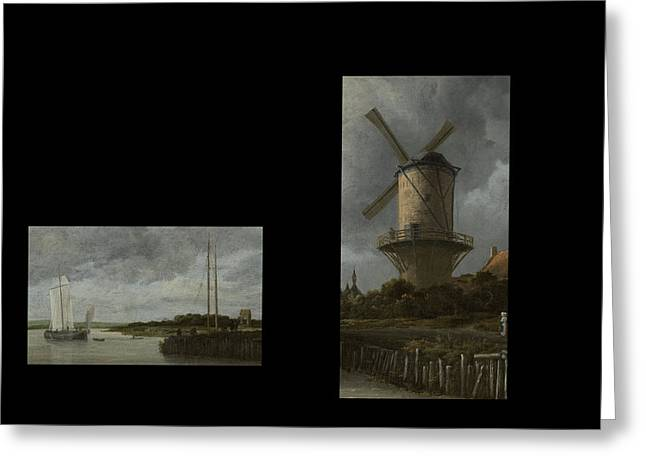 Bw 7 Van Ruisdael  Greeting Card by David Bridburg