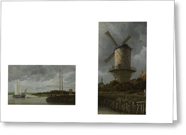 Bw 8 Van Ruisdael Greeting Card by David Bridburg