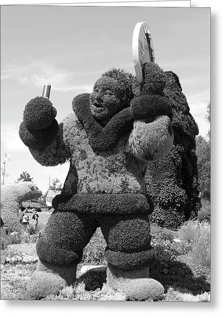 Bw  Of Nunavit's Entry The Drum Dancer Greeting Card