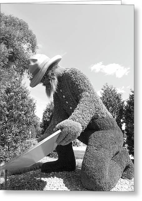 Bw  Of Yukon's Entry The Prospector Greeting Card