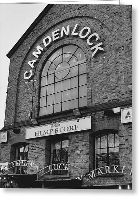 Bw Series Camden Lock Market Greeting Card
