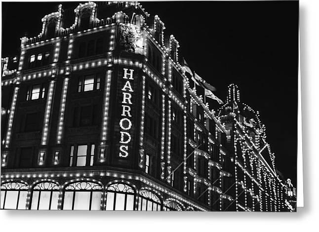 Bw Series Harrods Knightsbridge Greeting Card