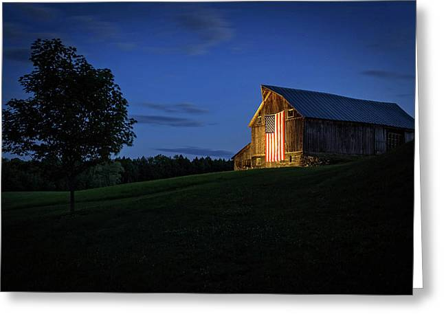 Old Glory By Dusks Early Light Greeting Card