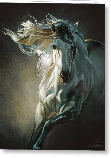 By Moonlight Greeting Card by Heather Theurer