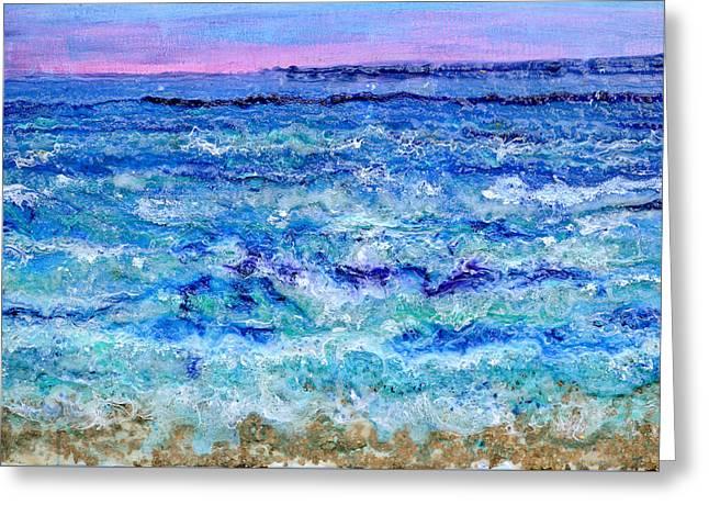 By The Beautiful Sea Greeting Card by Regina Valluzzi