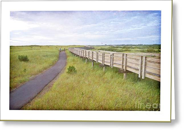 By The Boardwalk - Long Beach Washington Greeting Card