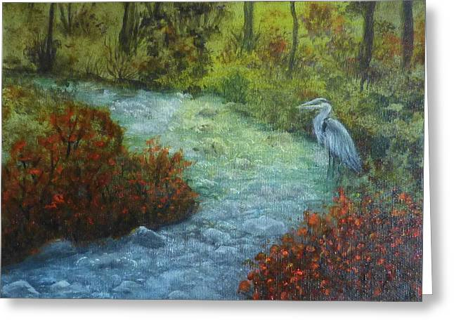 By The Brook Greeting Card