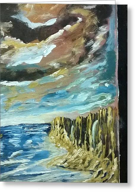 By The Cliffs Greeting Card