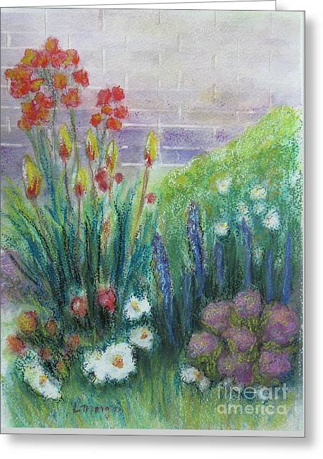 By The Garden Wall Greeting Card