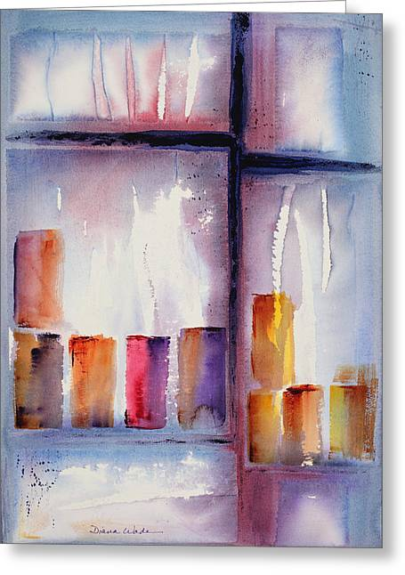 By The Glass Greeting Card by Diana Wade