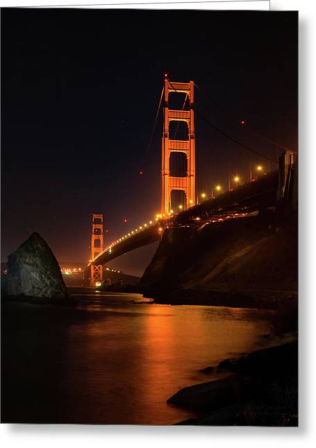 By The Golden Gate Greeting Card