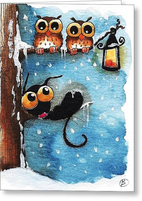 By The Lantern Greeting Card by Lucia Stewart