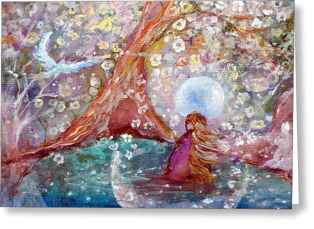 By The Light Of The Full Moon Greeting Card