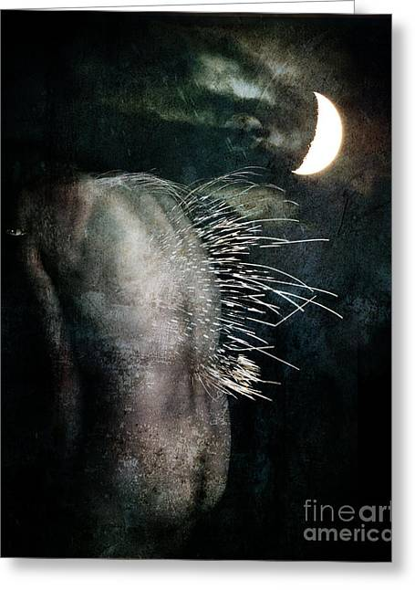 Greeting Card featuring the digital art By The Light Of The Moon by Nada Meeks