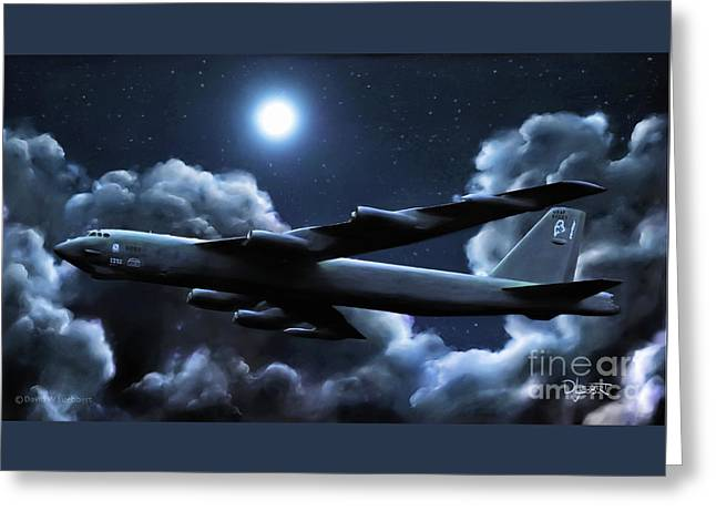 Greeting Card featuring the painting By The Light Of The Silvery Moon by Dave Luebbert
