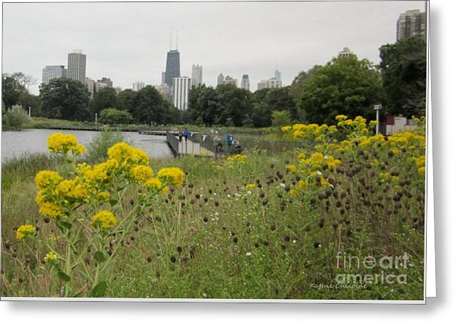 By The Lincoln Park Pond Greeting Card