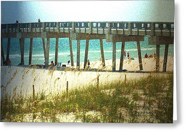 By The Pier Greeting Card by Deborah