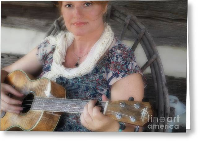 By The Portrait Of Beauty  Greeting Card by Steven Digman