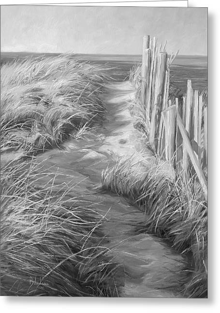 By The Sea - Black And White Greeting Card