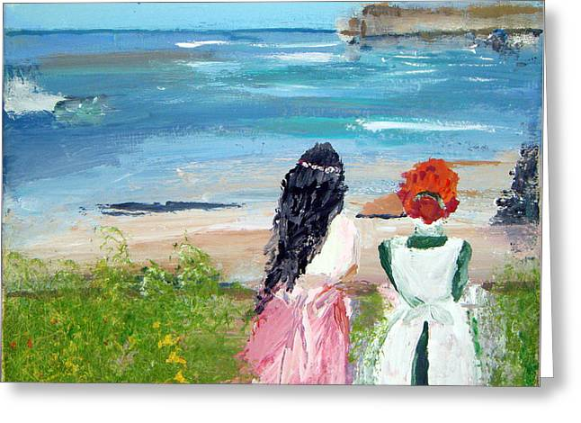 By The Shores By Colleen Ranney Greeting Card
