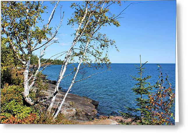 By The Shores Of Gitche Gumee Greeting Card