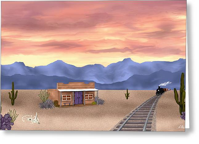 By The Tracks Greeting Card by Gordon Beck