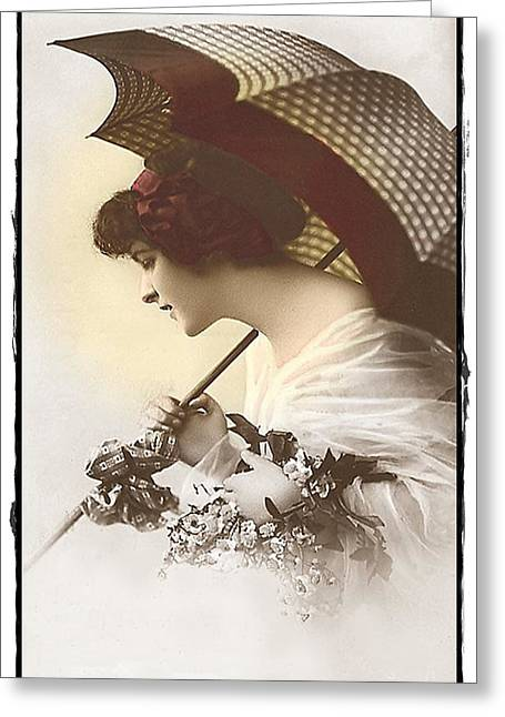 Bygone Beauty Greeting Card