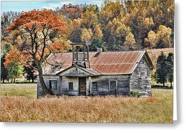 Bygone Days - Old Schoolhouse Greeting Card by HH Photography of Florida