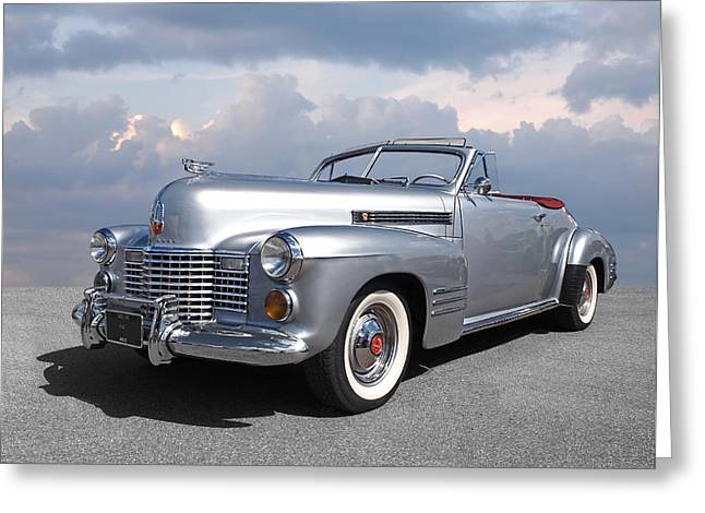 Bygone Era - 1941 Cadillac Convertible Greeting Card by Gill Billington