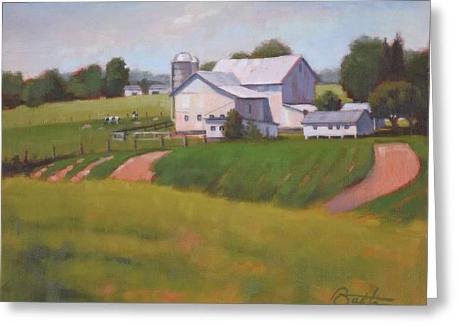 Byler Farm Greeting Card by Todd Baxter