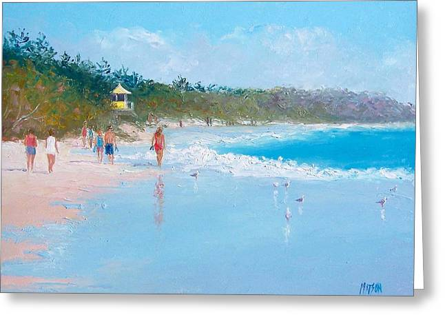 Byron Bay Beach Walkers Greeting Card