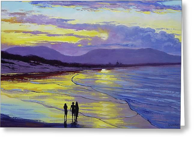 Byron Bay Sunset Greeting Card