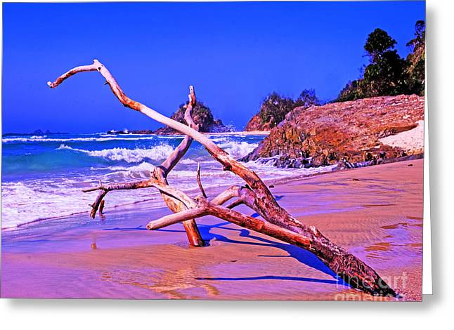 Byron Beach Australia Greeting Card by Chris Smith