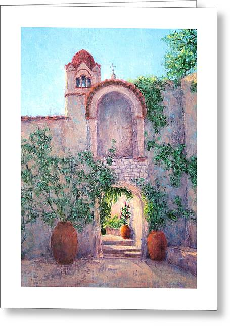 Byzantine Archway Greeting Card by Jill Musser