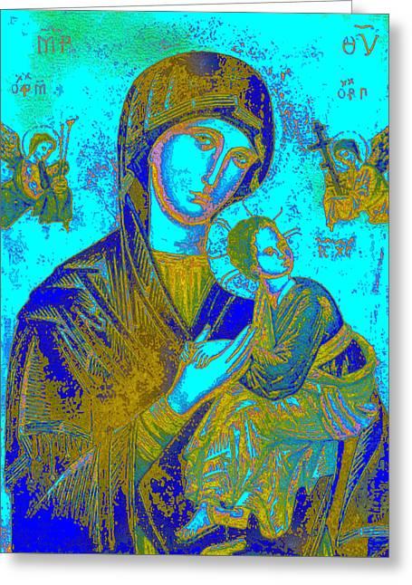Byzantine Our Lady Of Perpetual Help Greeting Card by Joy McKenzie