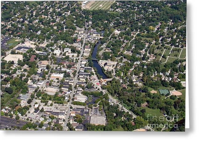 Greeting Card featuring the photograph C-011 Cedarburg Wisconsin by Bill Lang