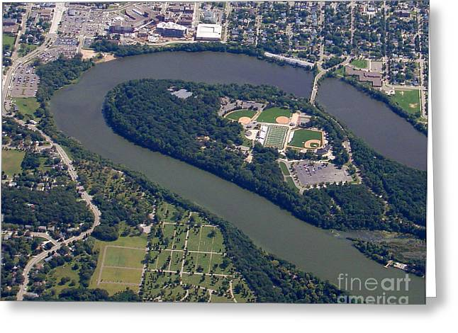 Greeting Card featuring the photograph C-016 Carson Park Eauclaire Wisconsin by Bill Lang