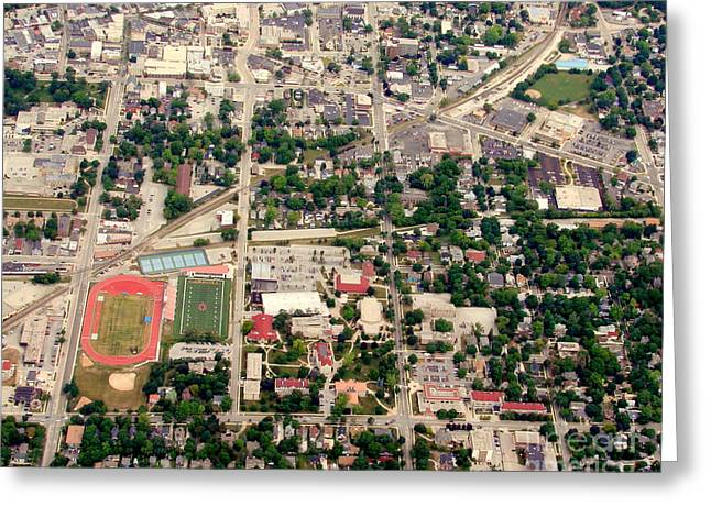 Greeting Card featuring the photograph C-017 Carroll University Waukesha Wisconsin by Bill Lang