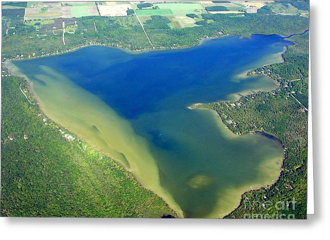 C-030 Clark Lake Door County Greeting Card by Bill Lang