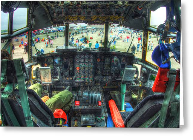 C 130 Cocpit 026 Greeting Card