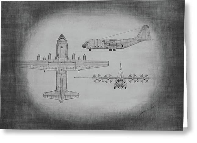 C130 Hercules Greeting Card by Gregory Lee