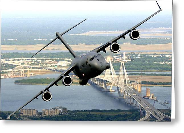 C-17 Charleston Greeting Card by Aviation Heritage