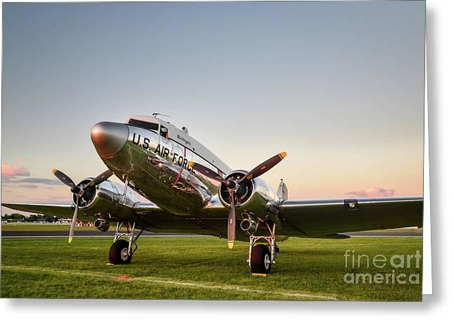 C-47 At Dusk Greeting Card