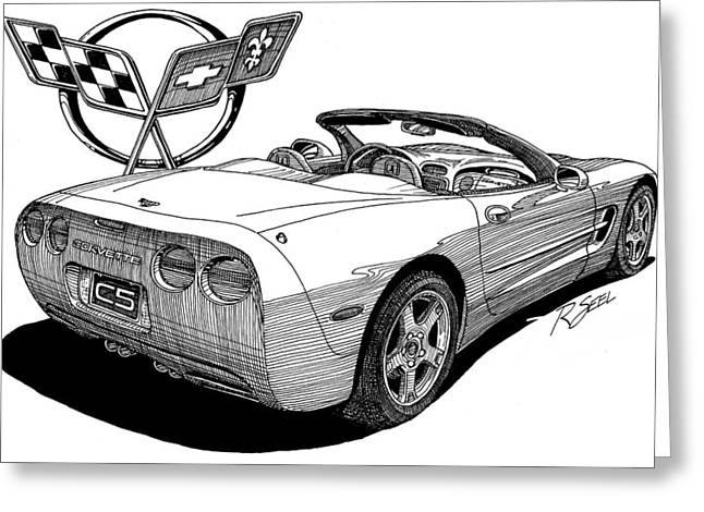 C-5 Corvette Convertible Greeting Card