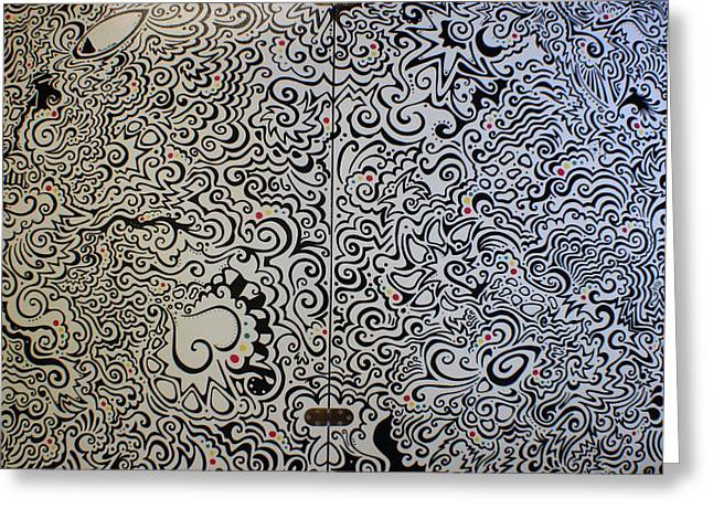Sharpie Greeting Cards - C and D table Greeting Card by Mandy Shupp